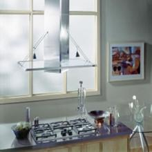 "Best 40"" Glass & Stainless Steel Island Hood"
