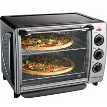 Hamilton Beach Black Extra-Large Countertop Oven with Convection and Rotisserie
