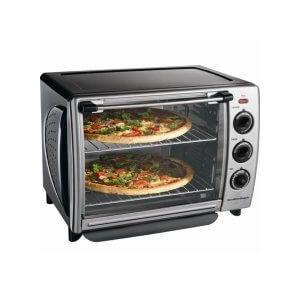 Hamiltonbeach - Hamilton Beach Black Extra-Large Countertop Oven with Convection and Rotisserie
