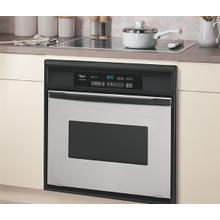 See Details - Black-on-Stainless 30-Inch Single Built-In Oven
