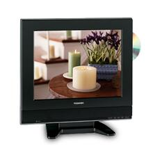 "15"" Diagonal LCD Television with Built-in DVD Player"