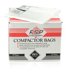 See Details - 15 Inch White Plastic Compactor Bags(Compactor & Disposer)