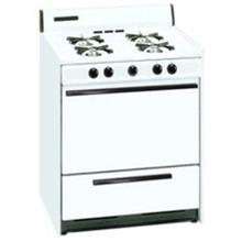 SUMMIT WTM2107 is a 30 inch gas range with electronic ignition and a lower broiler compartment.  Made in USA