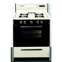See Details - SUMMIT STM1307DFK is a 20 inch deluxe gas range with electronic ignition and sealed burners, clock with timer, black glass see-through oven door with oven light and large oven and a lower broiler compartment. Made in USA.