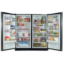 Stainless-on-Black 35.4 Cu. Ft. SideKicks Refrigerator/Freezer