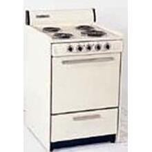 SUMMIT SEM610 is a 24 inch all-electric (220V) range with large deep oven and drop down storage beneath oven. Made in USA