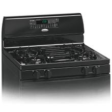 See Details - Black-on-Black 30-Inch Whirlpool Gold® Self-Cleaning Freestanding Gas Range