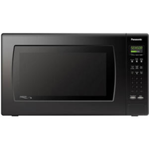 Luxury Full-Size 2.2 cu. ft. Microwave Oven with 1250 Watt High Power and Multi-Lingual Menu Action Screen, Black