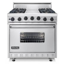 "Viking 36""Stainless Steel Professional Series Dual Fuel Range, Sealed Burner Self Cleaning"