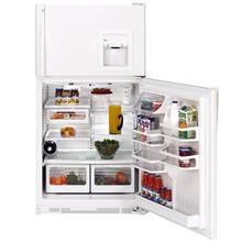 GE Profile White 21.7 Cu. Ft. CustomStyle Top-Freezer Refrigerator