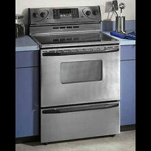 "Maytag 30"" Brushed Chrome Electric Range W/ Self-Cleaning Oven"