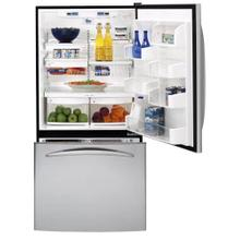 "GE Profile 33"" Stainless Bottom-Freezer Drawer Refrigerator"