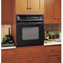 "GE Profile 27"" Black Built-In Single Convection Wall Oven"
