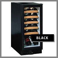 "U-Line 15"" Black Cabinet / Black Frame Glass Door - chelon Wine Captain"