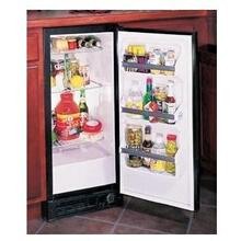 "Marvel 15"" All Refrigerator in Black w/ wrapped Stainless Steel Door Compact Refrigerator"