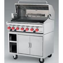 "Wolf 36"" Stainless Steel Freestanding Natural Gas Grill"