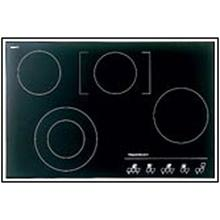 "Kuppersbusch 30"" Black Glass w/Black Trim Ceramic Sensor Control Cooktop"