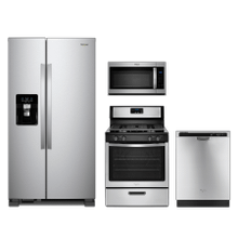 Whirlpool 4-piece Stainless Steel Appliance Package With Gas Range