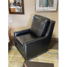 See Details - Smith Brothers Leather Swivel Chair