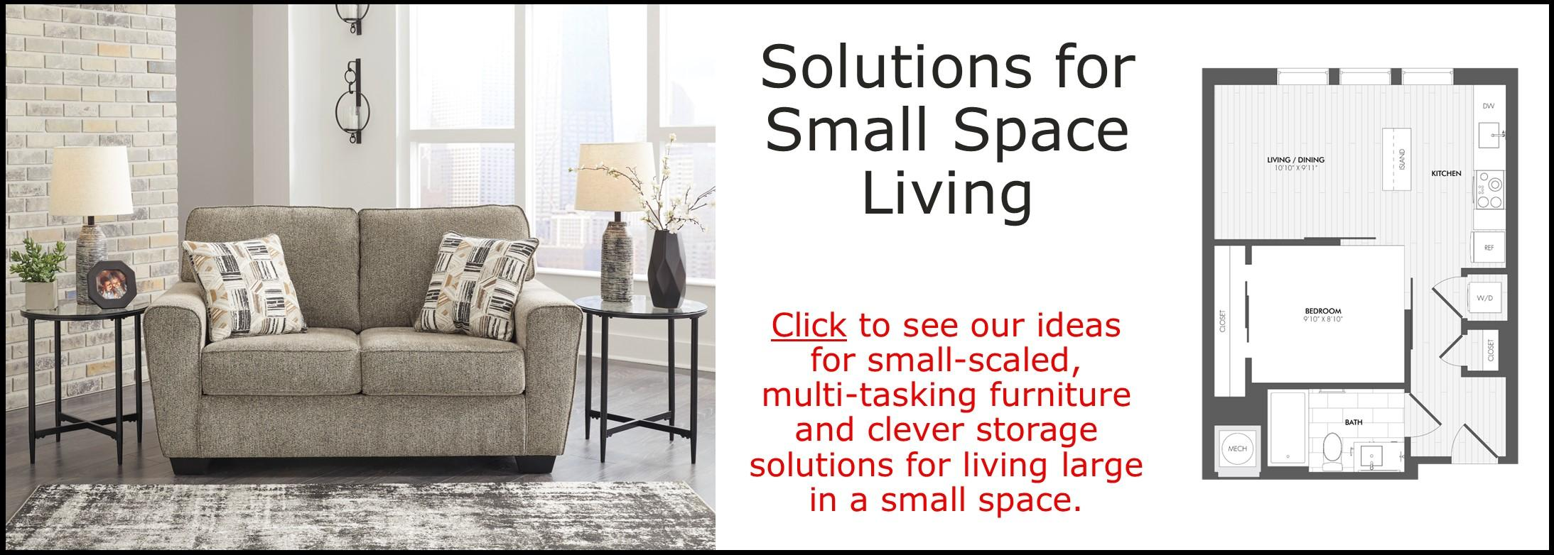 SOLUTIONS FOR SMALL SPACE LIVING
