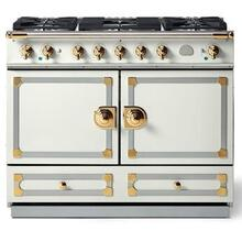 Pure White Cornufe 110 with Polished Brass Accents