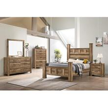 Salerno Queen Bedroom - Queen Bed (Headboard/Footboard/Posts/Rails), Dresser and Mirror