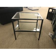 Product Image - Glass and Metal End Table
