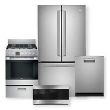 "HAIER 27 Cu. Ft. French Door Refrigerator & 24"" Gas Free-Standing Range With Convection Package"