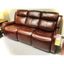 Leather/Vinyl Power Headrest Reclining Sofa in Bronze        (WARE-700093-3-BRONZE,45042)