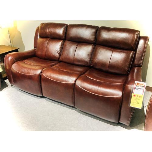 Warehouse M - Leather/Vinyl Power Headrest Reclining Sofa in Bronze        (WARE-700093-3-BRONZE,45042)