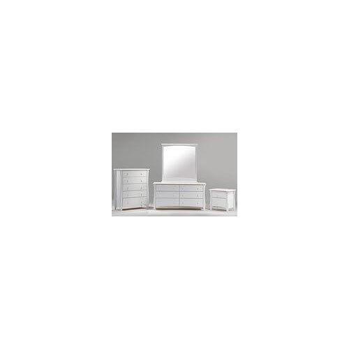 Night and Day Furniture - Clove 2 Drawer Night Stand White Finish