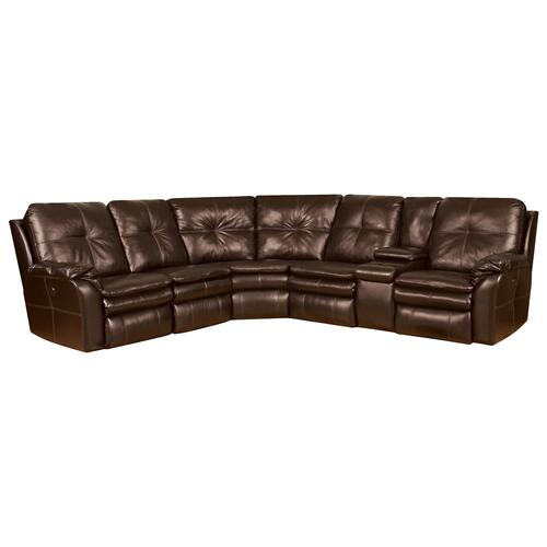 6-Piece Sectional in Godiva Brown