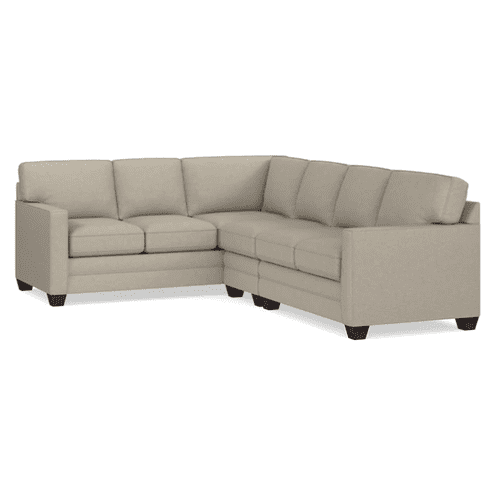 Alex Track Arm Right Sectional - Straw