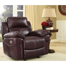 Warner Glider Recliner W/pwr Hr & Fr - Wine