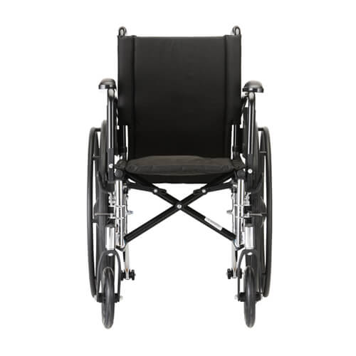 "16"" Lightweight Wheelchair w/ Full Arms & Footrests"
