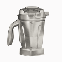 Vitamix Ascent Series Stainless Steel Blender Container, 48 Oz