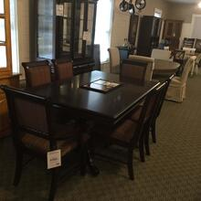 Crown Mark 7 Piece Dining Set w/ China Cabinet