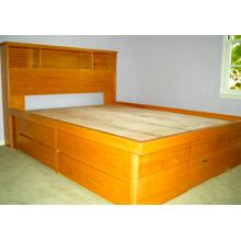 "Shaker Style Double High Chestbed with 9"" Bookcase Headboard"