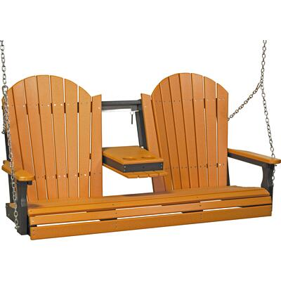Adirondack Swing 5' Tangerine and Black