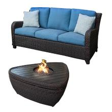 ID:184787 Outdoor sofa and triangular fire pit