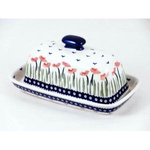 Red Poppies Butter Dish