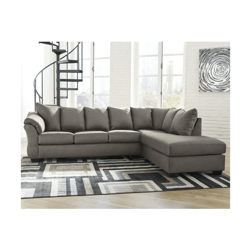 Darcy - Cobblestone 2-Piece Sectional with Right Facing Chaise