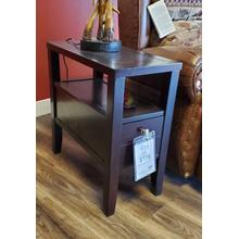 Casual Cappuccino Chairside Table