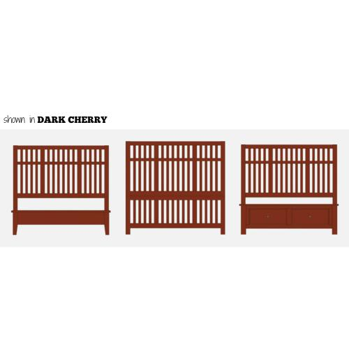 King Craftsman Slat Bed