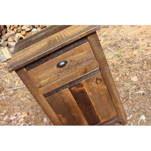 Cozy Creations Collection - Barn Board Nightstand 1 Drawer 1 Door