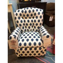 Navy Dots Kids Recliner