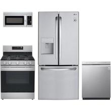 View Product - 4 piece stainless steel kitchen appliance package of LG
