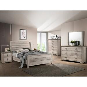 Patterson Qn Sleigh Bed, Dresser, Mirror, Chest and Nightstand