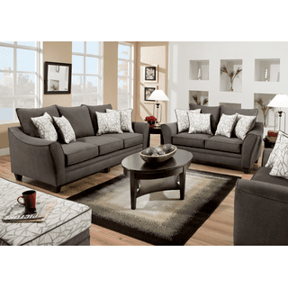 Flannel Seal Sofa and Loveseat Set