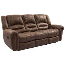 Manwah 8295 Dark Brown w/ Nailhead Power Reclining Sofa
